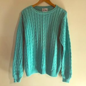 Lily Pulitzer Sea Foam Green/Blue Sweater sz XL